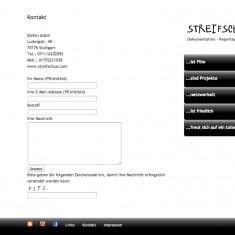 Tress Webdesign - Streifschuss - Kontakt