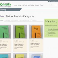 Desktopansicht der Shop-Seite des SM-Projekts