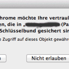 Schlüsselbundabfrage Google Chrome - Mac
