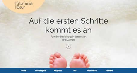 Onepager mit Parallax-Effekt - Tress Webdesign Stuttgart