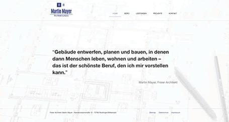 Startseite Archtektenwebseite