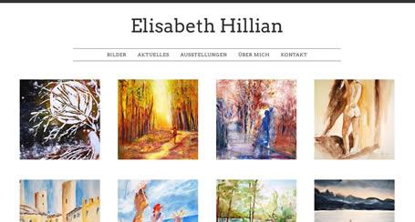 Webseite für Künstlerin