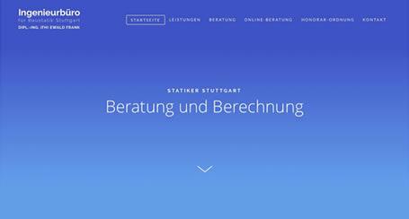 Baustatik Ingenieurbüro Webseitenreferenz - Tress Webdesign Stuttgart